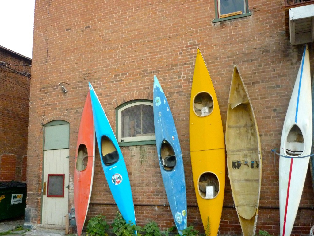 The Kayak Wall —one of the iconic images of Salida, CO